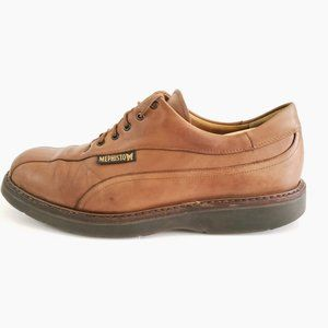 Mephisto  Oxford Leather Brown Goodyear Welt Shoe